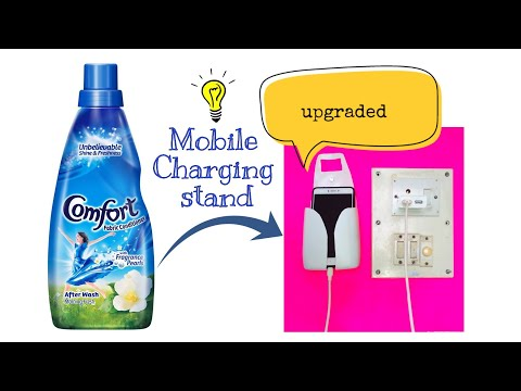 How to make Mobile Charging Stand from plastic Bottle, Plastic Bottle Hacks, 5 minute crafts, DIY