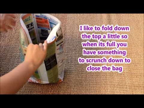 DIY Paper bin/trash Liner