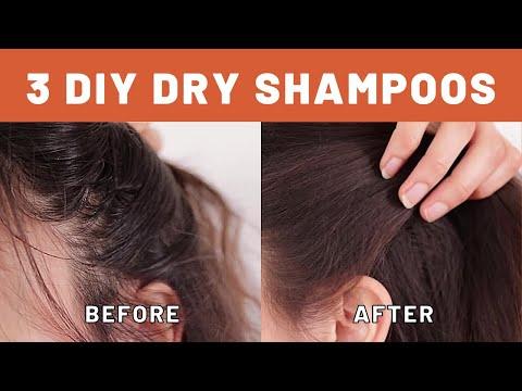 3 DIY Dry Shampoos For Any Hair Color (Powder & Spray)
