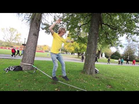 Slackline-Tutorial: Standing and Walking
