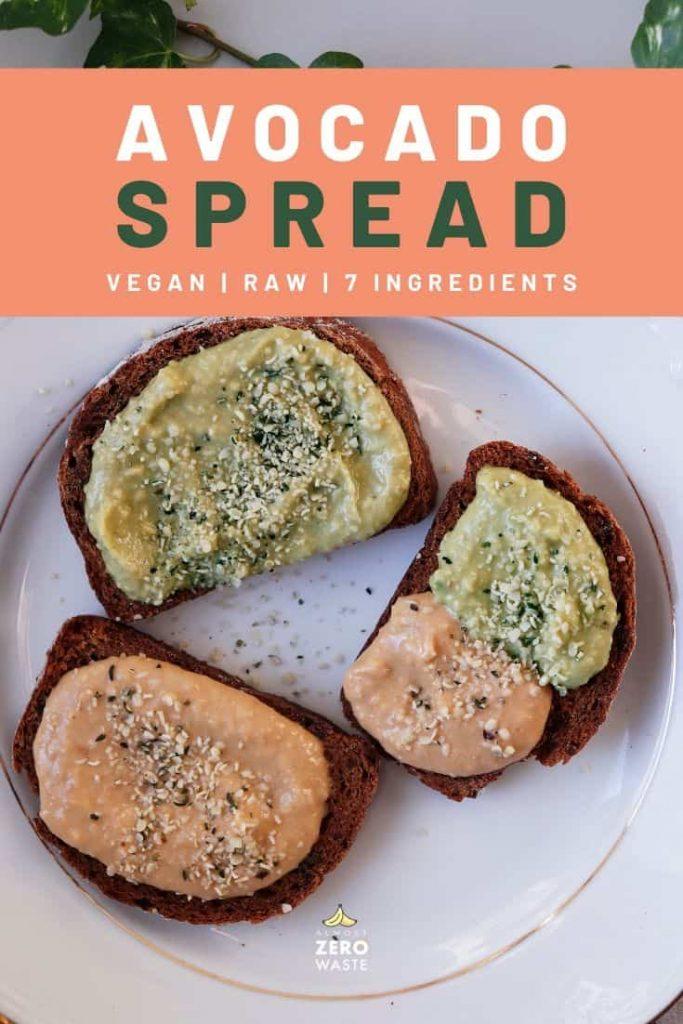 Avocado Spread Recipe (Raw, Vegan) - Almost Zero Waste