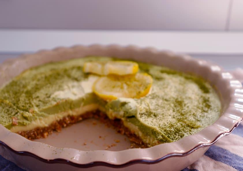 Raw Lemon Cheesecake (Vegan, 9 Ingredients) - Almost Zero Waste