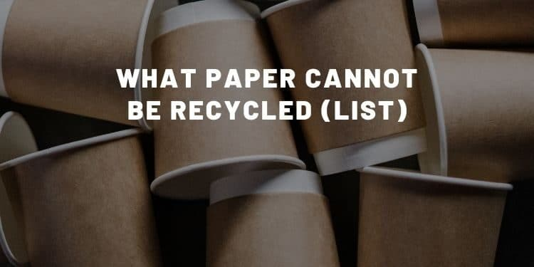 What paper cannot be recycled (list) - Almost Zero Waste