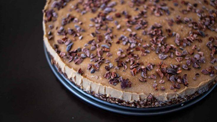Peanut Butter Pie From Scratch (Vegan, No Bake)