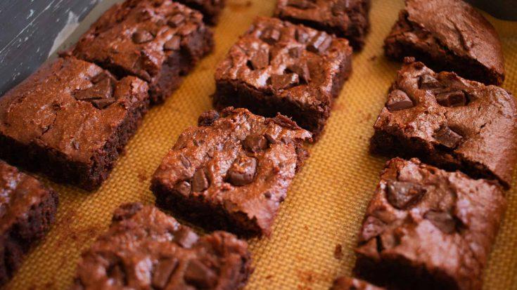 Fudgy Almond Butter Vegan Brownies - Almost Zero Waste