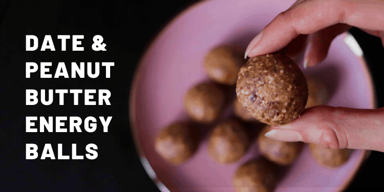 4-Ingredient Date And Peanut Butter Energy Balls - Almost Zero Waste