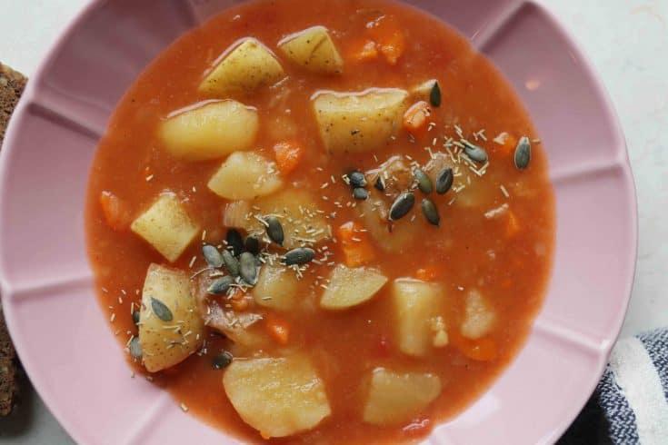 Vegan Potato Stew (Grandma's Recipe) - Almost Zero Waste