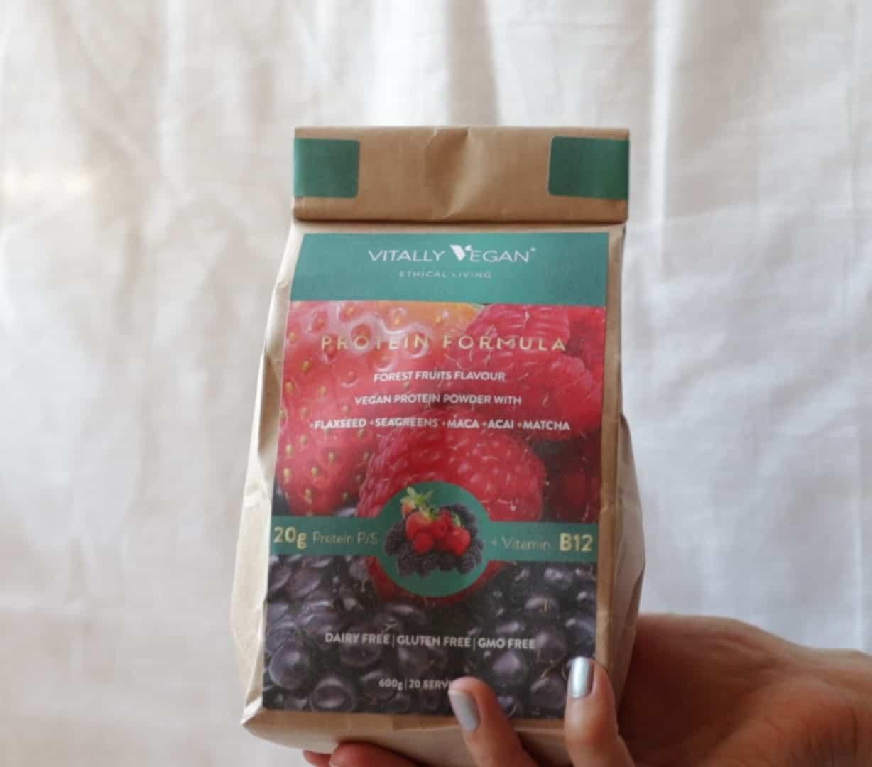 Vitally Vegan Protein Powder - Forest Fruit (use the code ZEROWASTE for £10 0FF)